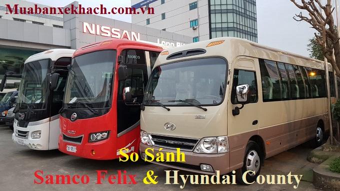 samco felix và hyundai county